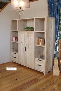 Maatwerk tv / boekenkast eiken, breedte 180 cm / op aanvraag te maken